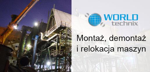 WorldTechnix - montaż, demontaż i relokacja maszyn